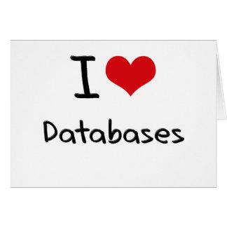 I Love Databases Card