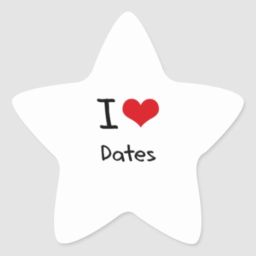 I Love Dates Stickers