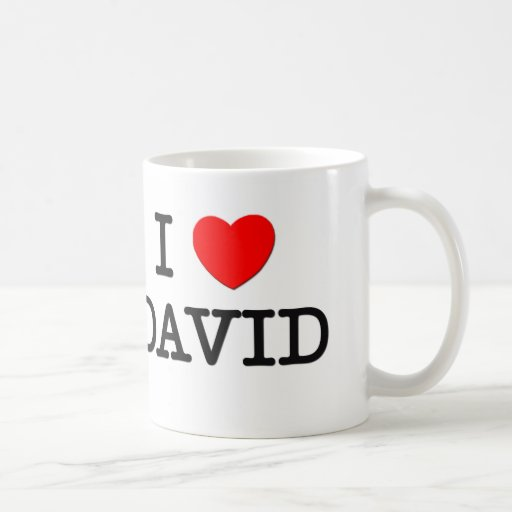 I Love David Mugs