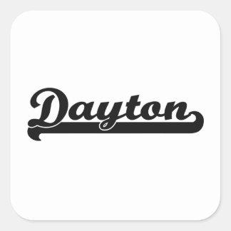 I love Dayton Ohio Classic Design Square Sticker