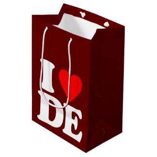 I LOVE DE MEDIUM GIFT BAG