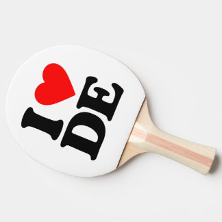 I LOVE DE PING PONG PADDLE