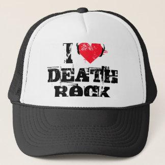 I love death rock trucker hat