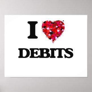 I love Debits Poster