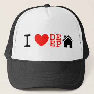 i love deep house music dj baseball cap