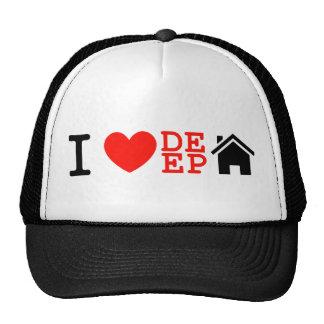 i love deep house music dj baseball cap trucker hat