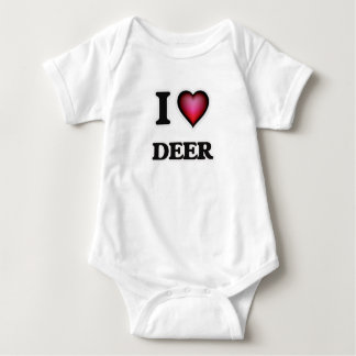 I Love Deer Baby Bodysuit