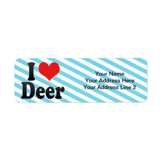 I Love Deer Return Address Label