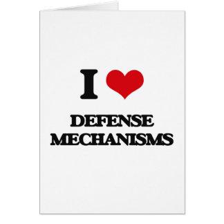 I love Defense Mechanisms Greeting Card