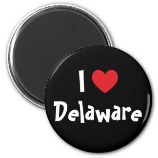 I Love Delaware 2 Inch Round Magnet