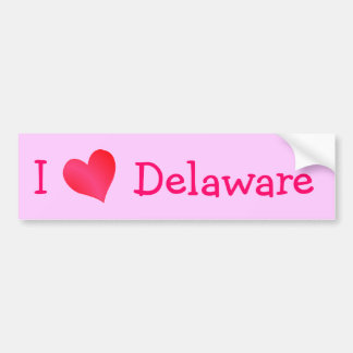 I Love Delaware Bumper Sticker