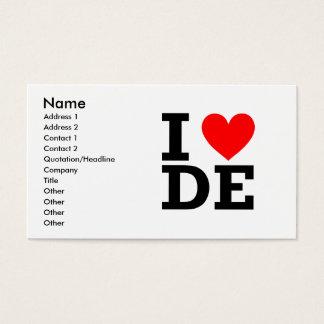 I Love Delaware Design Business Card