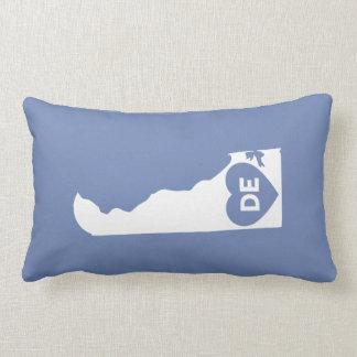 I Love Delaware State Lumbar Pillow