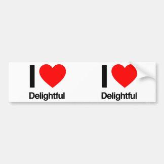 i love delightful bumper sticker