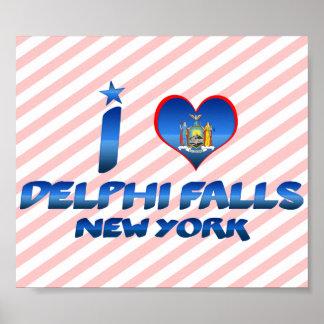 I love Delphi Falls, New York Poster