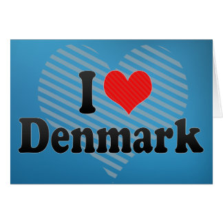 I Love Denmark Card