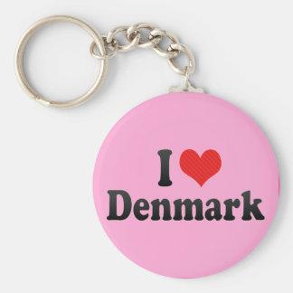 I Love Denmark Keychain