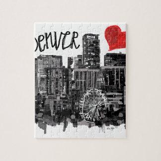 I love Denver Jigsaw Puzzle
