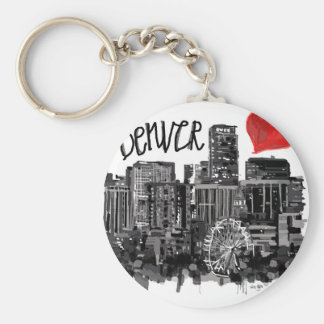 I love Denver Keychain