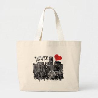 I love Denver Large Tote Bag