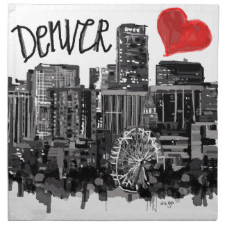 I love Denver Napkin