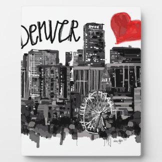 I love Denver Plaque
