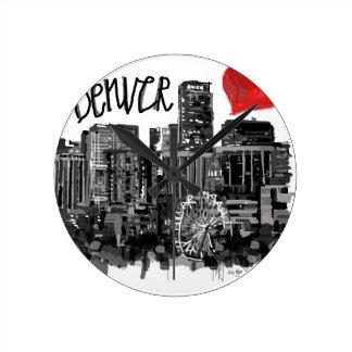 I love Denver Round Clock