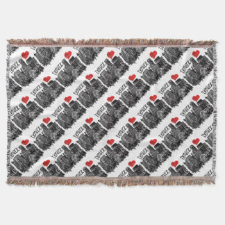 I love Denver Throw Blanket