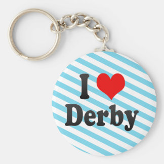 I Love Derby, United Kingdom Keychain