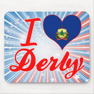 I Love Derby, Vermont Mousepads