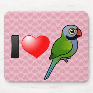 I Love Derbyan Parakeets Mouse Pad
