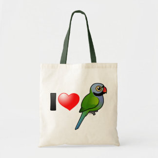 I Love Derbyan Parakeets Tote Bag