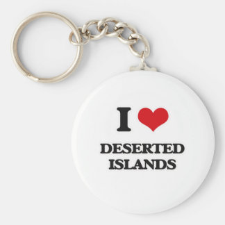 I Love Deserted Islands Keychain