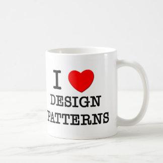 I Love Design Patterns Basic White Mug