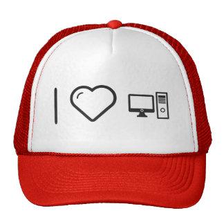 I Love Desktop Comps Trucker Hat