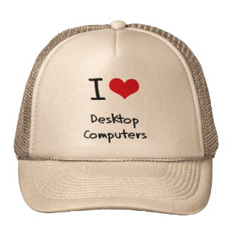 I Love Desktop Computers Mesh Hats