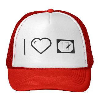 I Love Desktop Logs Trucker Hat