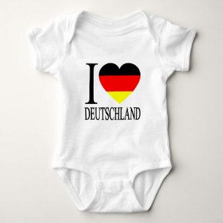 I Love Deutschland Germany German Flag Heart Baby Bodysuit