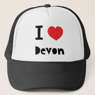 I love Devon Trucker Hat
