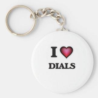 I love Dials Keychain