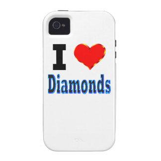 I Love Diamonds iPhone 4/4S Cases