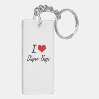 I love Diaper Bags Double-Sided Rectangular Acrylic Keychain