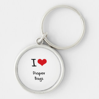 I Love Diaper Bags Keychains