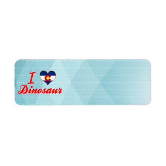I Love Dinosaur, Colorado Custom Return Address Label