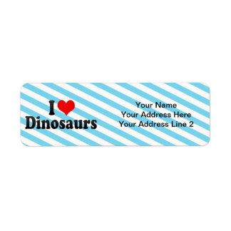 I Love Dinosaurs Return Address Labels