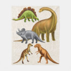 I Love Dinosaurs Paleontology Fleece Blanket