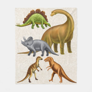 I Love Dinosaurs Paleontology Fleece Blanket