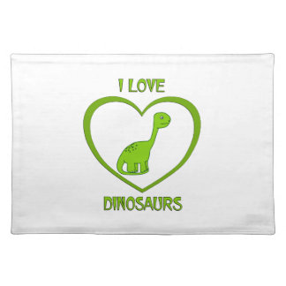 I Love Dinosaurs Placemat