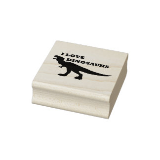 I Love Dinosaurs! Rubber Stamp