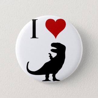 I Love Dinosaurs - T-Rex 2 Inch Round Button